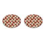 Modernist Geometric Tiles Cufflinks (Oval)
