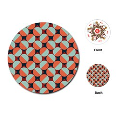 Modernist Geometric Tiles Playing Cards (round)  by DanaeStudio