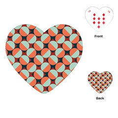 Modernist Geometric Tiles Playing Cards (heart)  by DanaeStudio