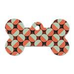 Modernist Geometric Tiles Dog Tag Bone (Two Sides)