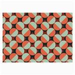 Modernist Geometric Tiles Large Glasses Cloth (2-Side)