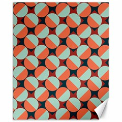 Modernist Geometric Tiles Canvas 11  X 14   by DanaeStudio