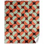 Modernist Geometric Tiles Canvas 11  x 14