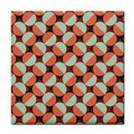Modernist Geometric Tiles Face Towel