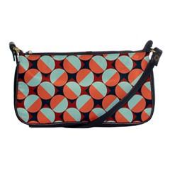 Modernist Geometric Tiles Shoulder Clutch Bags by DanaeStudio