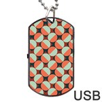 Modernist Geometric Tiles Dog Tag USB Flash (Two Sides)
