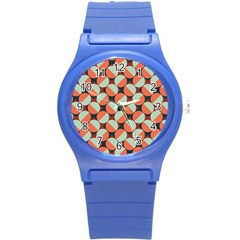 Modernist Geometric Tiles Round Plastic Sport Watch (s) by DanaeStudio