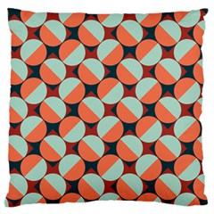 Modernist Geometric Tiles Large Cushion Case (two Sides) by DanaeStudio