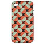 Modernist Geometric Tiles Apple iPhone 4/4S Hardshell Case (PC+Silicone)