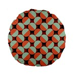Modernist Geometric Tiles Standard 15  Premium Round Cushions