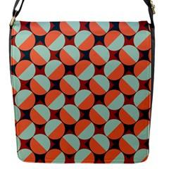 Modernist Geometric Tiles Flap Messenger Bag (s) by DanaeStudio