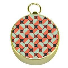 Modernist Geometric Tiles Gold Compasses by DanaeStudio