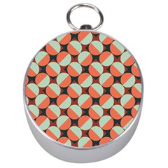 Modernist Geometric Tiles Silver Compasses by DanaeStudio