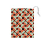 Modernist Geometric Tiles Drawstring Pouches (Medium)
