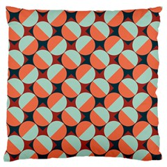 Modernist Geometric Tiles Large Flano Cushion Case (one Side) by DanaeStudio