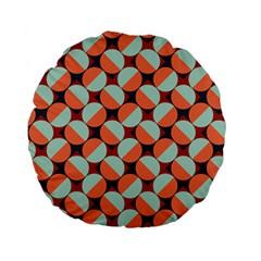 Modernist Geometric Tiles Standard 15  Premium Flano Round Cushions by DanaeStudio
