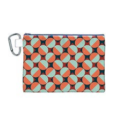 Modernist Geometric Tiles Canvas Cosmetic Bag (m) by DanaeStudio