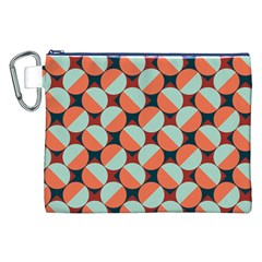 Modernist Geometric Tiles Canvas Cosmetic Bag (xxl) by DanaeStudio