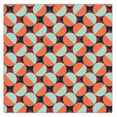 Modernist Geometric Tiles Large Satin Scarf (square) by DanaeStudio