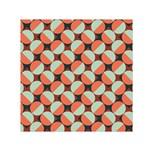 Modernist Geometric Tiles Small Satin Scarf (Square)