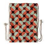 Modernist Geometric Tiles Drawstring Bag (Large)