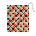 Modernist Geometric Tiles Drawstring Pouches (Extra Large)