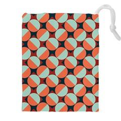 Modernist Geometric Tiles Drawstring Pouches (xxl) by DanaeStudio