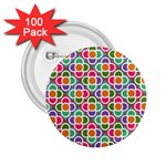 Modernist Floral Tiles 2.25  Buttons (100 pack)