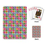 Modernist Floral Tiles Playing Card