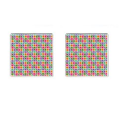 Modernist Floral Tiles Cufflinks (square) by DanaeStudio