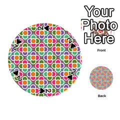 Modernist Floral Tiles Playing Cards 54 (round)  by DanaeStudio