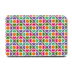 Modernist Floral Tiles Small Doormat  by DanaeStudio