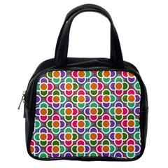 Modernist Floral Tiles Classic Handbags (one Side) by DanaeStudio