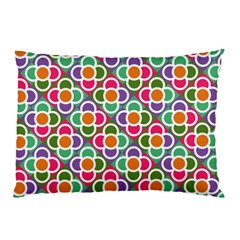 Modernist Floral Tiles Pillow Case by DanaeStudio