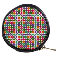 Modernist Floral Tiles Mini Makeup Bags by DanaeStudio