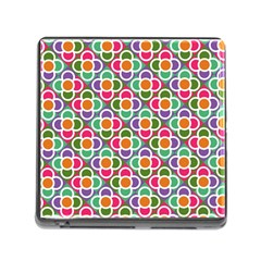 Modernist Floral Tiles Memory Card Reader (square) by DanaeStudio