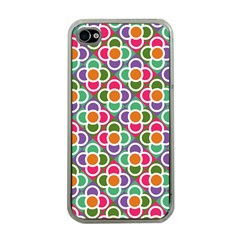 Modernist Floral Tiles Apple Iphone 4 Case (clear) by DanaeStudio