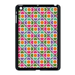 Modernist Floral Tiles Apple Ipad Mini Case (black) by DanaeStudio