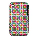 Modernist Floral Tiles Apple iPhone 3G/3GS Hardshell Case (PC+Silicone)