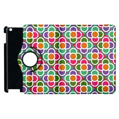 Modernist Floral Tiles Apple Ipad 2 Flip 360 Case by DanaeStudio
