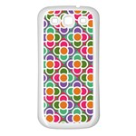 Modernist Floral Tiles Samsung Galaxy S3 Back Case (White)