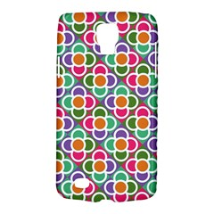 Modernist Floral Tiles Galaxy S4 Active by DanaeStudio