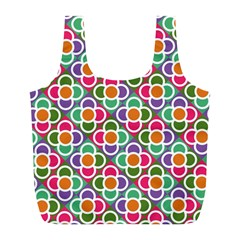 Modernist Floral Tiles Full Print Recycle Bags (l)  by DanaeStudio