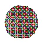 Modernist Floral Tiles Standard 15  Premium Flano Round Cushions