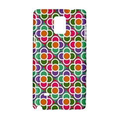 Modernist Floral Tiles Samsung Galaxy Note 4 Hardshell Case by DanaeStudio