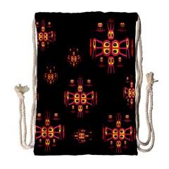 Alphabet Shirtjhjervbretili Drawstring Bag (large) by MRTACPANS