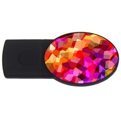 Geometric Fall Pattern Usb Flash Drive Oval (2 Gb)  by DanaeStudio