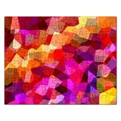 Geometric Fall Pattern Rectangular Jigsaw Puzzl by DanaeStudio