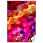 Geometric Fall Pattern Canvas 12  x 18