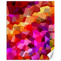 Geometric Fall Pattern Canvas 11  X 14   by DanaeStudio